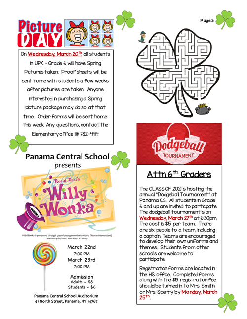 Page three newsletter