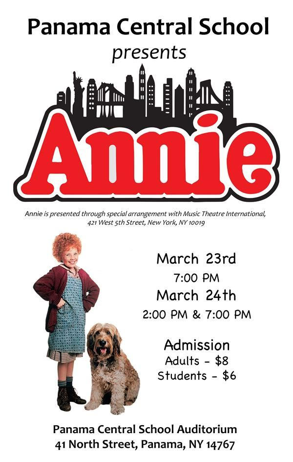 Panama Central School presents Annie!