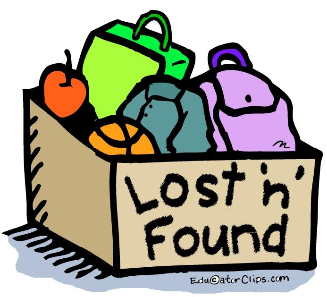 Lost & Found full - being donated by the end of the week!